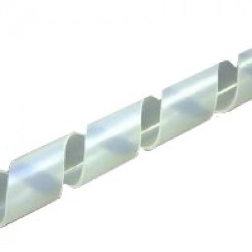Spiralband milchig weiß, Bündelbereich 4,0 - 20 mm, 25 Meter Rolle