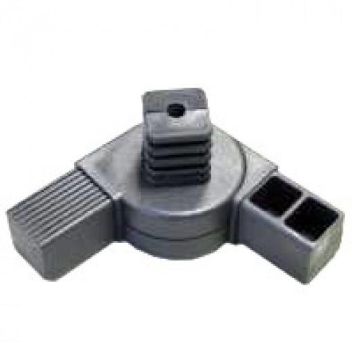 180° T-Stück Gelenkverbinder für Quadratrohr 40 x 40 mm