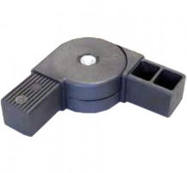 180° Gelenkverbinder für Quadratrohr 40 x 40 mm