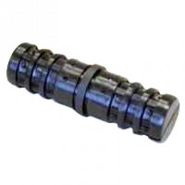180° Rohrverbinder für Rundrohr 60 mm Außenmaß, Wandstärke 4 mm, Schwarz, mit Stahlkern