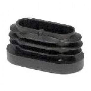 Lamellenstopfen für Ovalrohre 50 x 20 mm, Schwarz