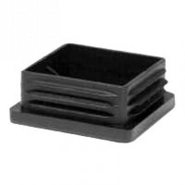 Lamellenstopfen für Quadratrohre 25 x 25 mm, Wandstärke 3 mm, Schwarz