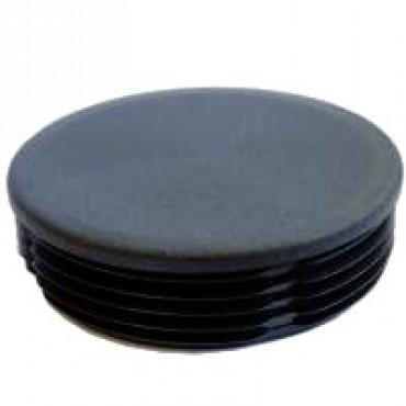 Lamellenstopfen für Rundrohr 15 mm, Schwarz