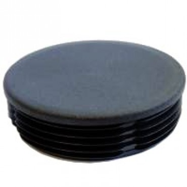 Lamellenstopfen für Rundrohr 30 mm, Schwarz