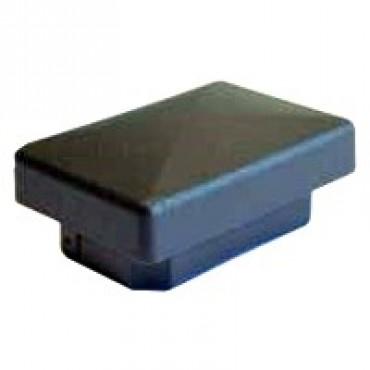 Rechteck Rohrstopfen ohne Lamellen 60 x 40 mm, Schwarz