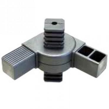 180° Kreuzstück Gelenkverbinder für Quadratrohr 40 x 40 mm