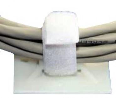 Klebesockel für Kabelbinder-Band 19 x 19 mm, 6 mm hoch